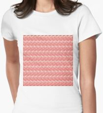 Rippled Pink   Women's Fitted T-Shirt