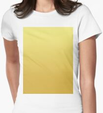 Bright Limelight Yellow Ombre to Ceylon Yellow Women's Fitted T-Shirt