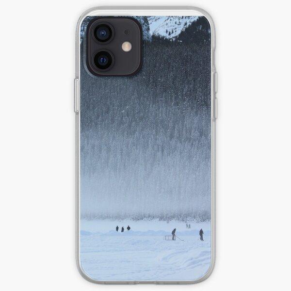 Hockey on Lake Louise iPhone Soft Case