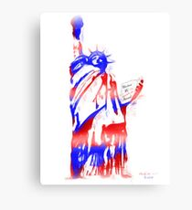 Red, White & Blue Statue of Liberty Canvas Print