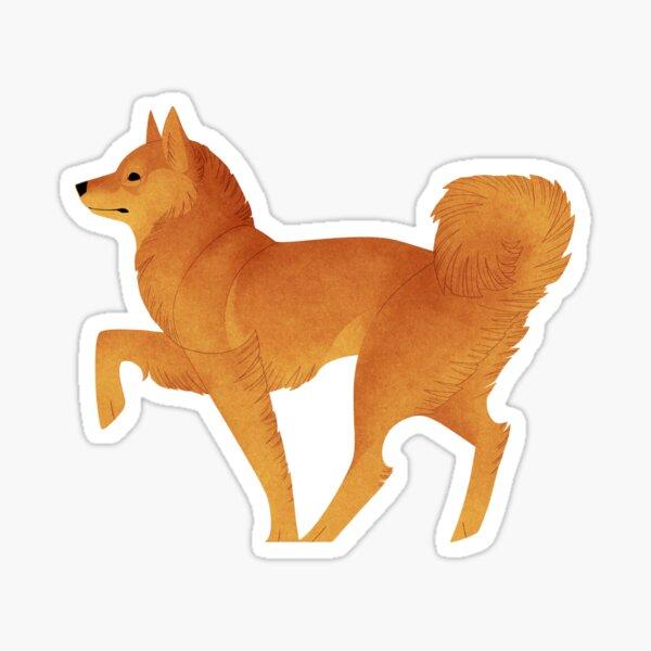 Geometric dogs - Finnish Spitz Sticker