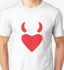 Love Heart with Devil Horns Unisex T-Shirt