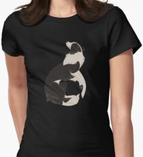 Geometric dogs - Border Collie Women's Fitted T-Shirt