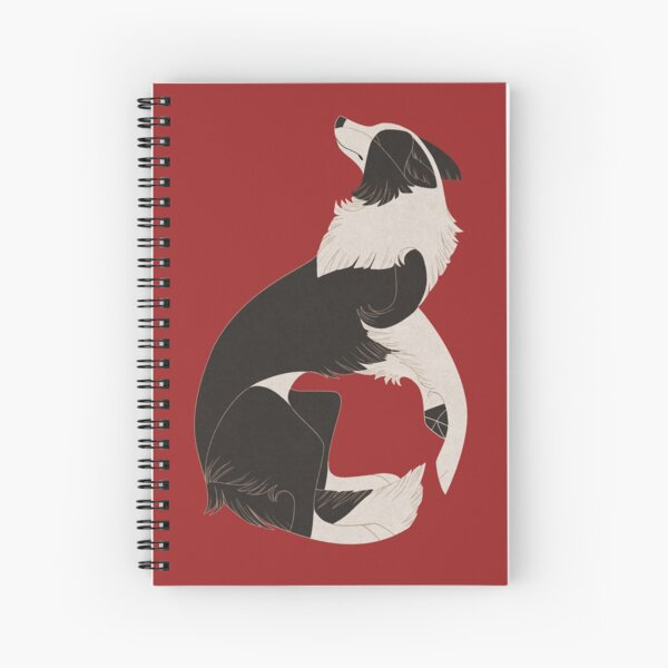 Geometric dogs - Border Collie Spiral Notebook