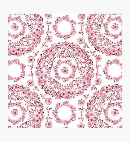 Versailles Pink Floral Photographic Print