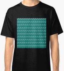 Rippled Aqua  Classic T-Shirt