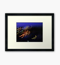 light strings singalong Framed Print