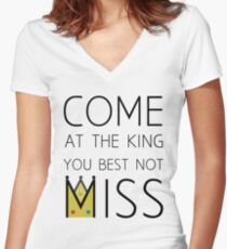 Come At The King Women's Fitted V-Neck T-Shirt