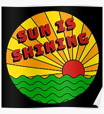 Bob Marley - Sun is Shining Poster