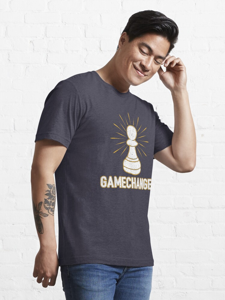 Alternate view of Game Changer Pawn Chess Piece - Cool Chess Club Gift Essential T-Shirt