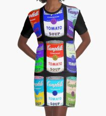 Andy Warhol Campbell Soup Cans  Graphic T-Shirt Dress