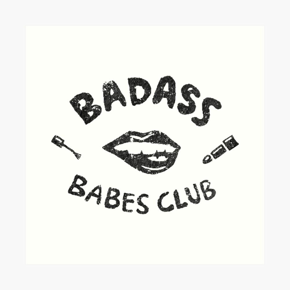 Badass Babes Club Flirt Kunstdruck