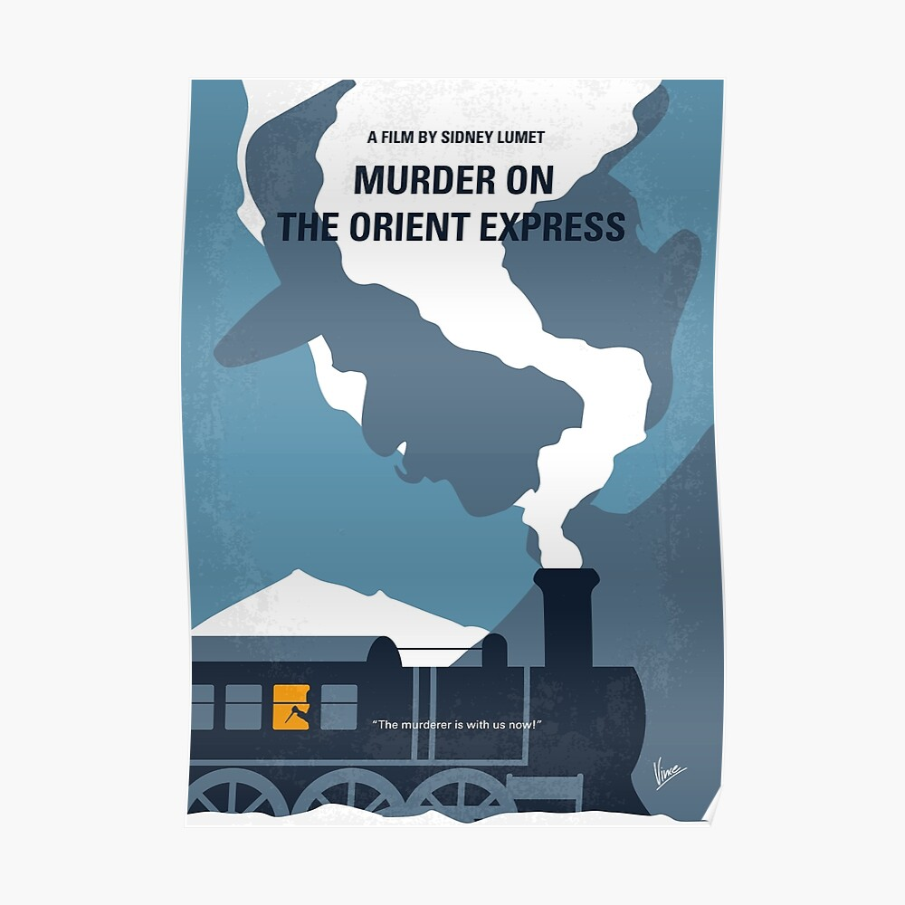 No883 Mein Mord am Orient Express minimales Filmplakat Poster