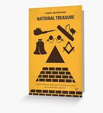 No887 My National Treasure minimales Filmplakat Grußkarte