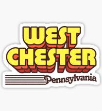 West Chester, Pennsylvania | Retro Stripes Sticker