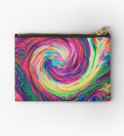 Swirl hook #Digital #Art Zipper Pouch