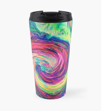 Swirl hook #Digital #Art Travel Mug