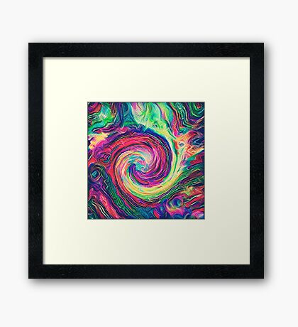 Swirl hook #Digital #Art Framed Print