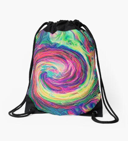 Swirl hook #Digital #Art Drawstring Bag