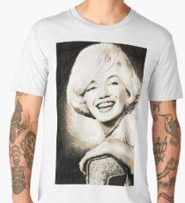 Marilyn Monroe, charcol picture Men's Premium T-Shirt