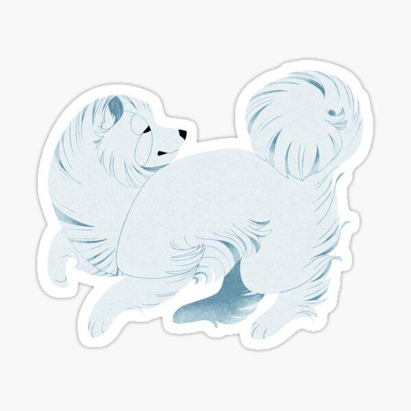 Geometric dogs - Samoyed Sticker