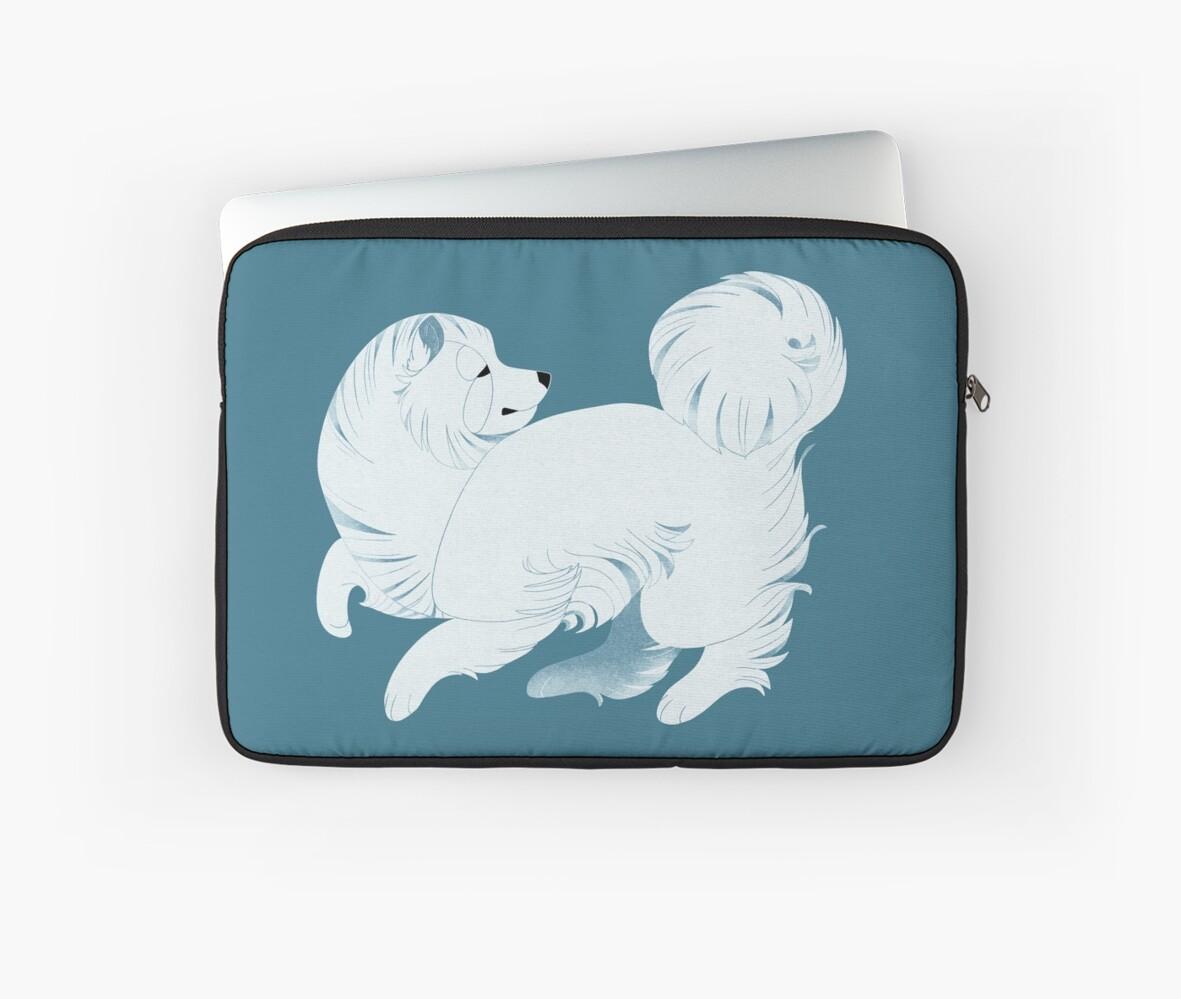 Geometric dogs - Samoyed by Kelgrid