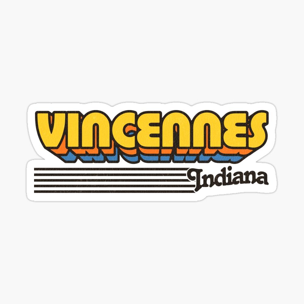 Vincennes, Indiana | Retro Stripes Sticker