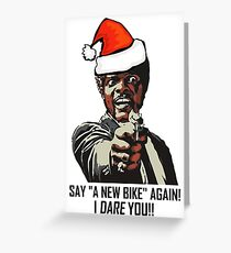 Samuel Jackson sagt wieder ein neues Fahrrad Grußkarte