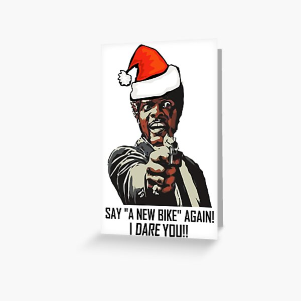 Samuel Jackson Say A New Bike Again Greeting Card