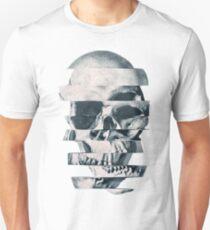Glitch Schädel Mono Slim Fit T-Shirt