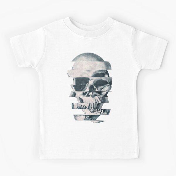 Glitch Skull Mono Kids T-Shirt