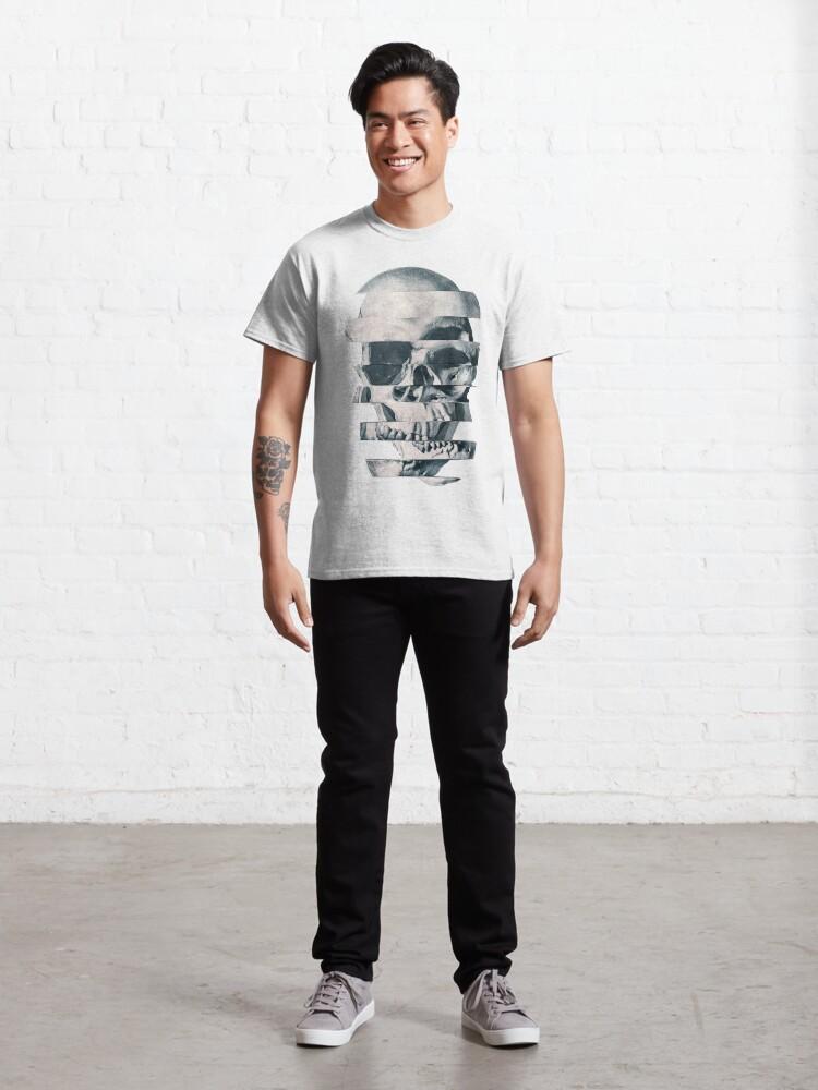 Alternate view of Glitch Skull Mono Classic T-Shirt