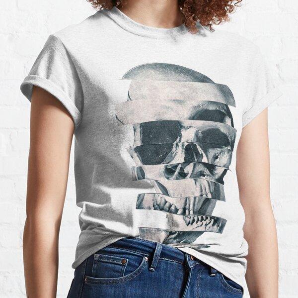 Glitch Skull Mono T-shirt classique