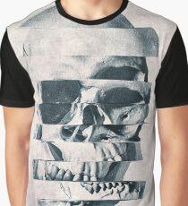 Glitch Skull Mono Graphic T-Shirt