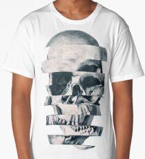 Glitch Skull Mono Long T-Shirt