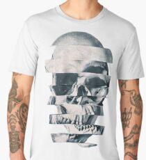Glitch Skull Mono Men's Premium T-Shirt