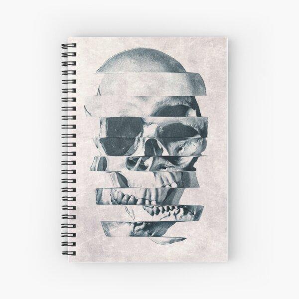 Glitch Skull Mono Spiral Notebook