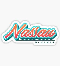 Nassau Bahamas Typography Sticker
