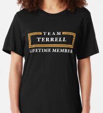 Team Terrell Lifetime Member Surname Shirt Slim Fit T-Shirt