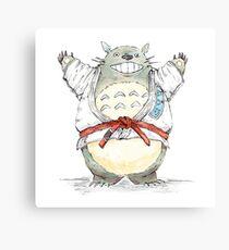Red Belt Totoro Canvas Print