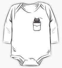 Pocket Cat, the Pocket Pal. One Piece - Long Sleeve