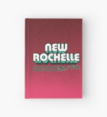 New Rochelle, New York | Retro Stripes Hardcover Journal