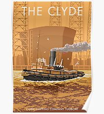 The Clyde, Flying Tempest Tugboat Poster