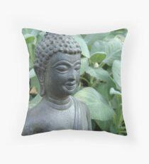 Budda in Nature Throw Pillow