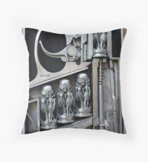 H. R. Giger Museum - Entrance Statue. Gruyeres, Switzerland Throw Pillow