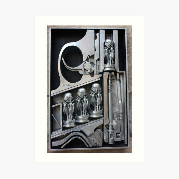 H. R. Giger Museum - Entrance Statue. Gruyeres, Switzerland Art Print