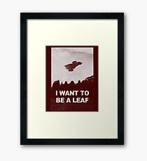be leaf Framed Print