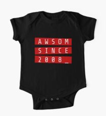 Awesome Since 2008 Shirt Awsom 10th Birthday Gift One Piece - Short Sleeve