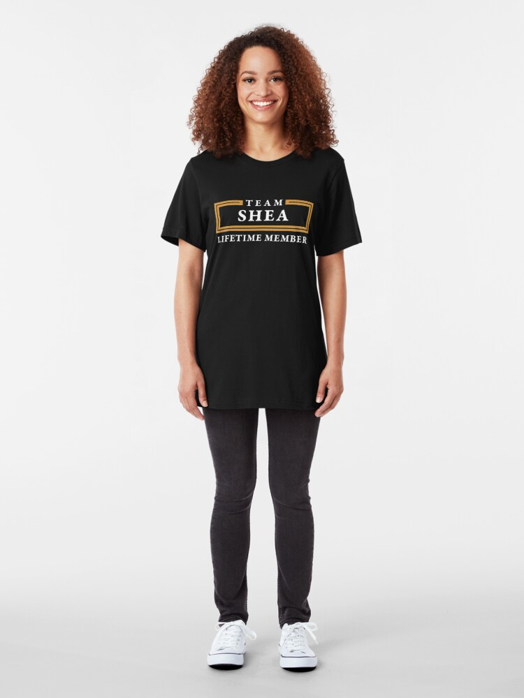 Alternate view of Team Shea Lifetime Member Surname Shirt Slim Fit T-Shirt