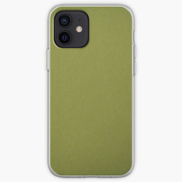 Green, surface, homogenous, smuth iPhone Soft Case